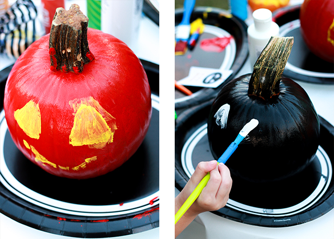 How to throw a MARVEL Halloween Pumpkin Painting Party-15