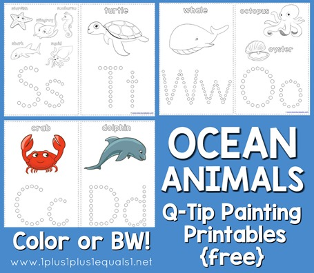 21 Ocean Themed Printables and Crafts Round Up on PrintableCrush.com- so many fun ideas!