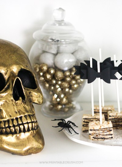 You'll love all the elegant and spooky Black and Gold Halloween Party Ideas in this post! Get yummy recipes, decor tips, and free printables!