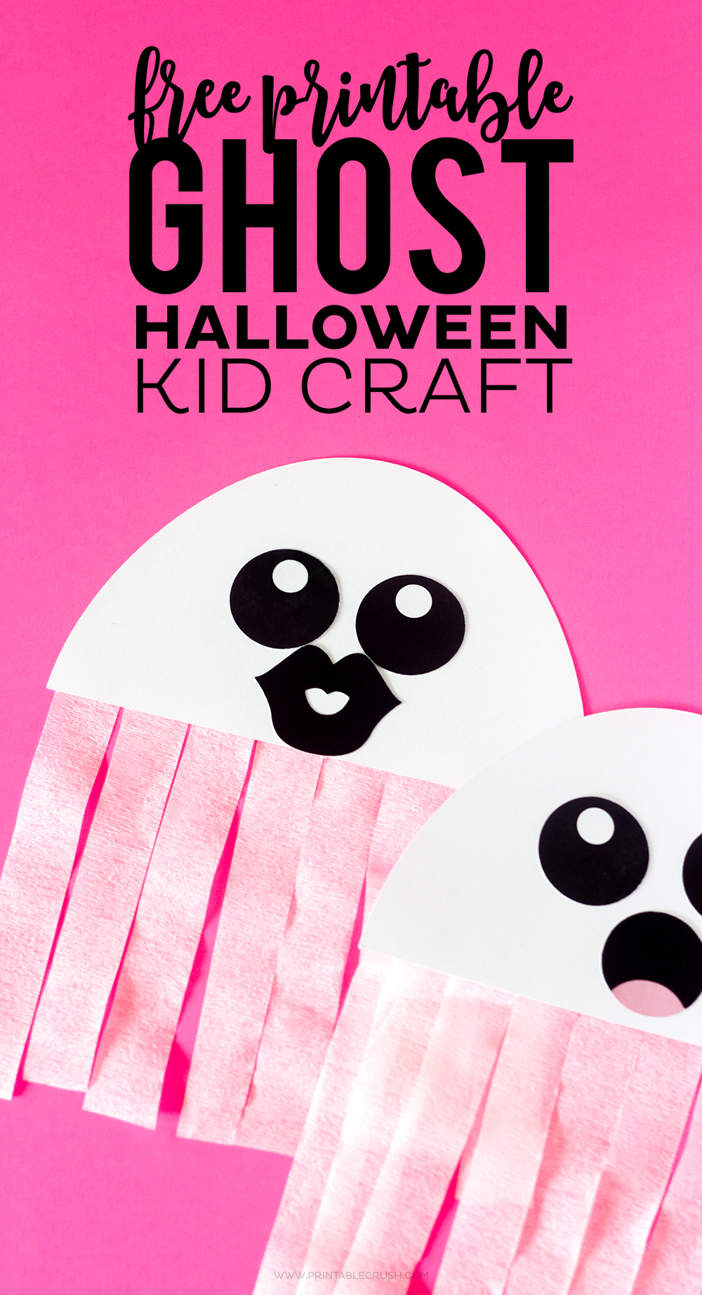 decoration crafts ideas free printable ghost craft printable crush 1844