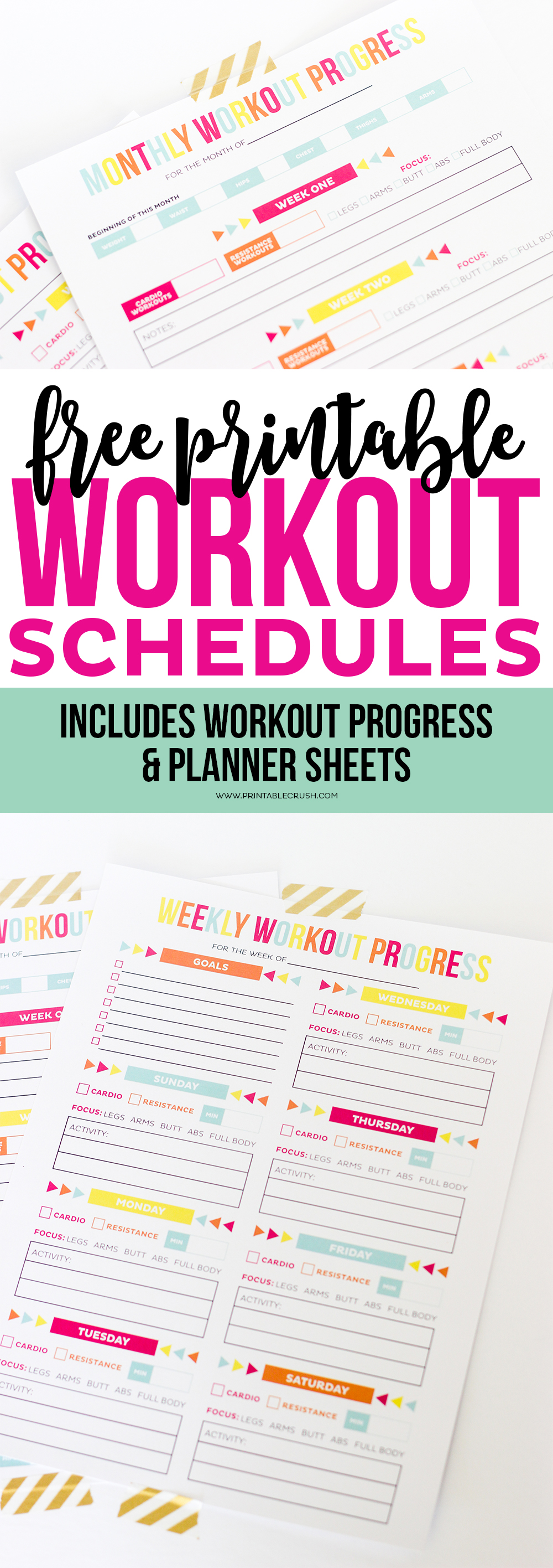 It is a picture of Printable Workout Routines inside home