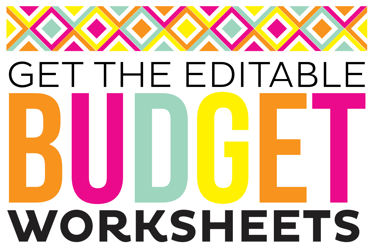 Simple Free Printable Budget Worksheets