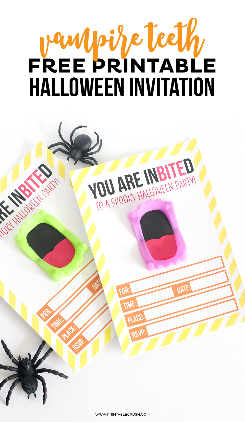Download This FREE Printable Vampire Halloween Invitation For Your Party Its A Fun