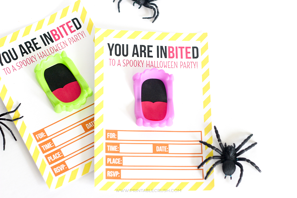 picture regarding Printable Halloween Invitations known as Free of charge Printable Vampire Halloween Invitation - Printable Crush