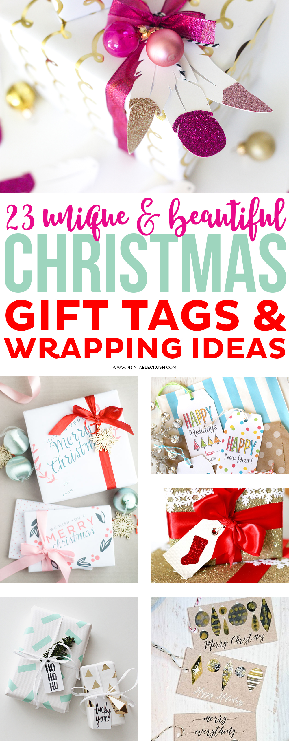 23 Unique Christmas Gift Tags And Wrapping Ideas Printable Crush