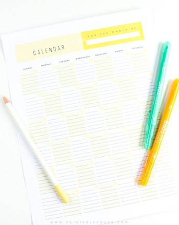 Download this FREE Printable Calendar and you'll never need another calendar again! Type the year, month, and dates in Adobe Reader, type in your schedule, then print!
