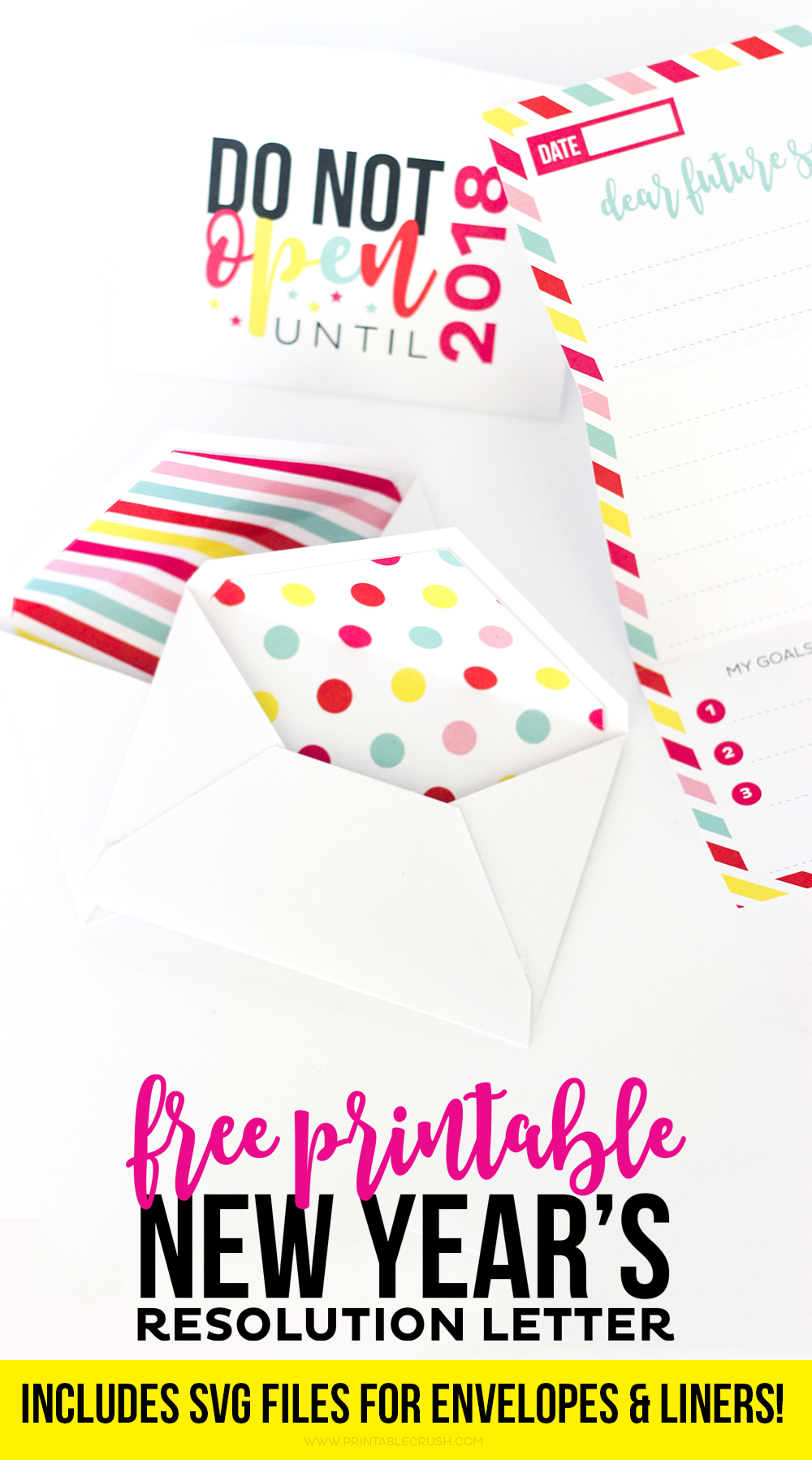 Printable New Year\'s Resolution Letter and Envelopes - Printable Crush