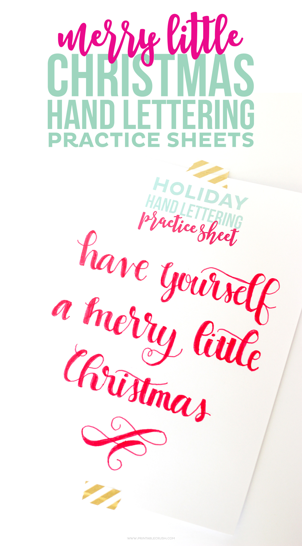 Download These FREE Printable Christmas Hand Lettering Practice Sheets Will Help You Create The Perfect
