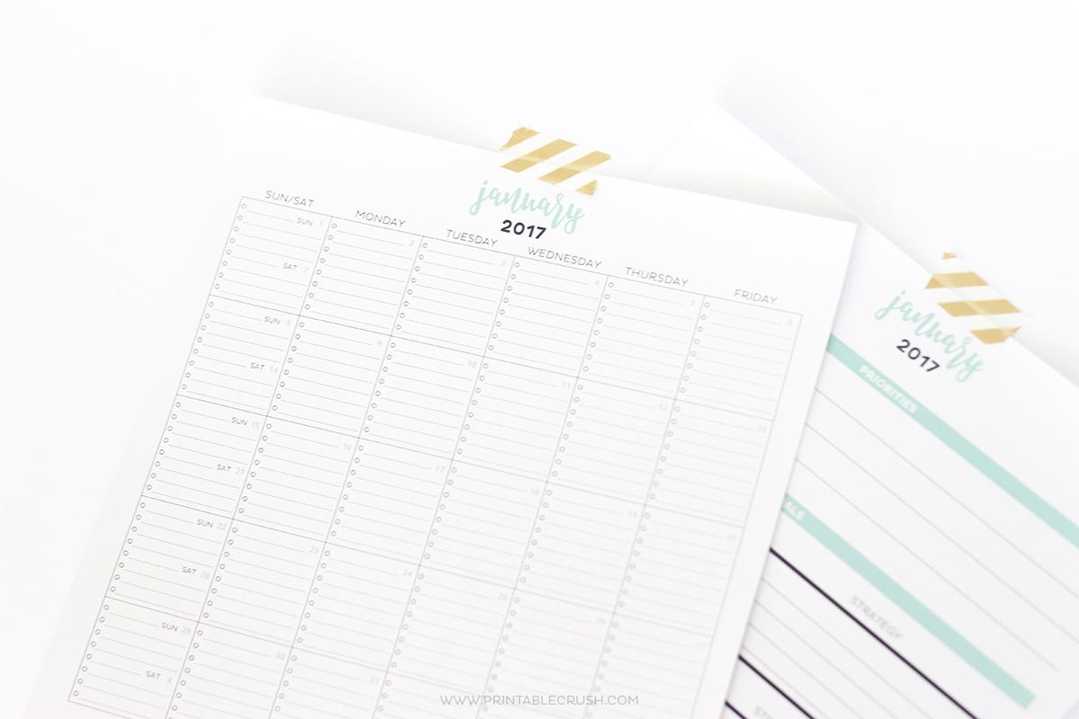 Simple Printable Calendar And Goal Planner