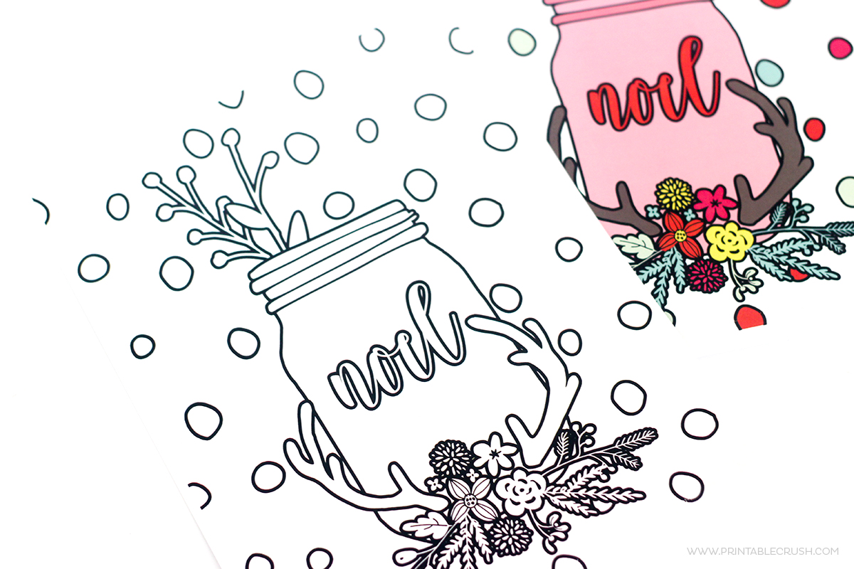 Learn To Create Christmas Coloring Pages In Photoshop Printable Crush