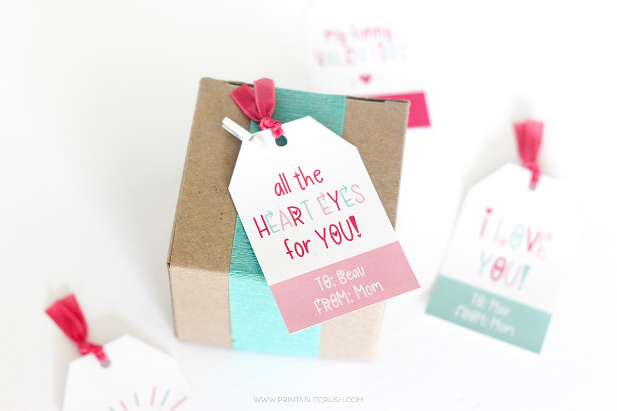 Hand Lettered Free Valentine Font And Cute Gift Tags Printable Crush