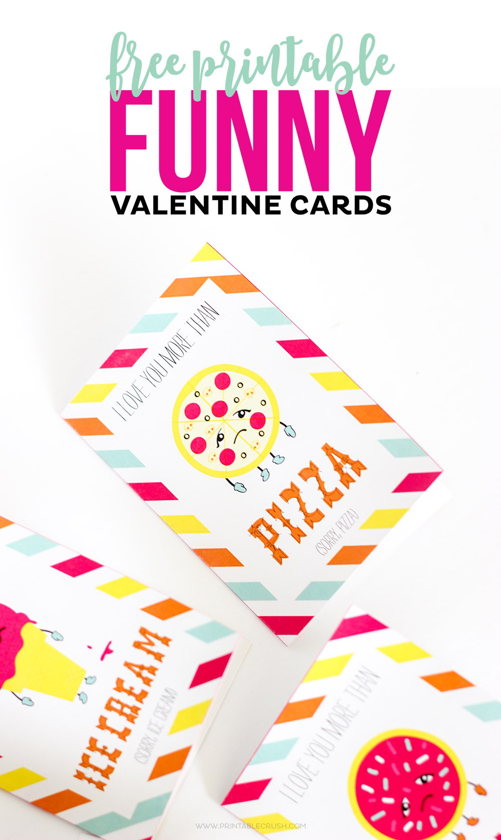 Closeup of pizza funny Valentine card