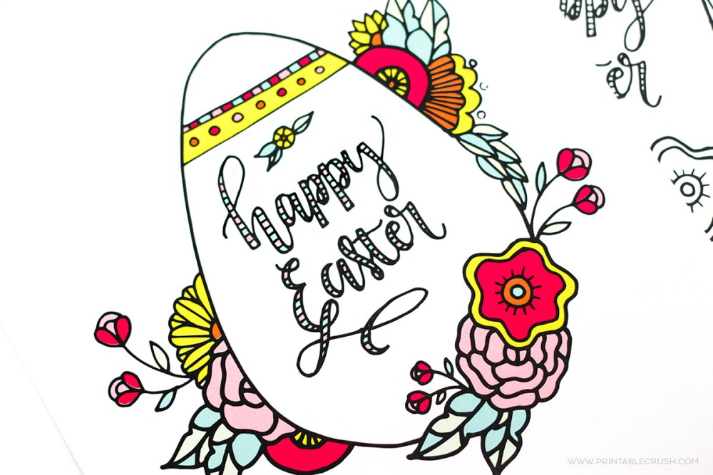 Make your Easter more colorful with this gorgeous FREE Printable Easter Coloring Page. This would be the perfect activity for your Easter guests!