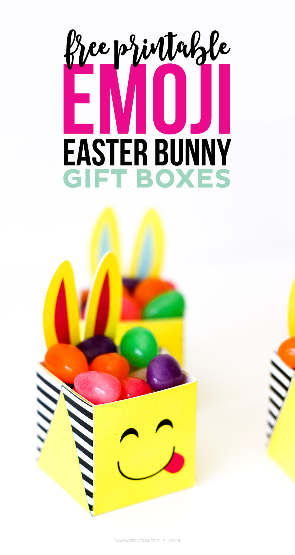 Free printable emoji easter bunny boxes printable crush these free printable emoji easter bunny boxes are the cutest little boxes youve ever negle Gallery