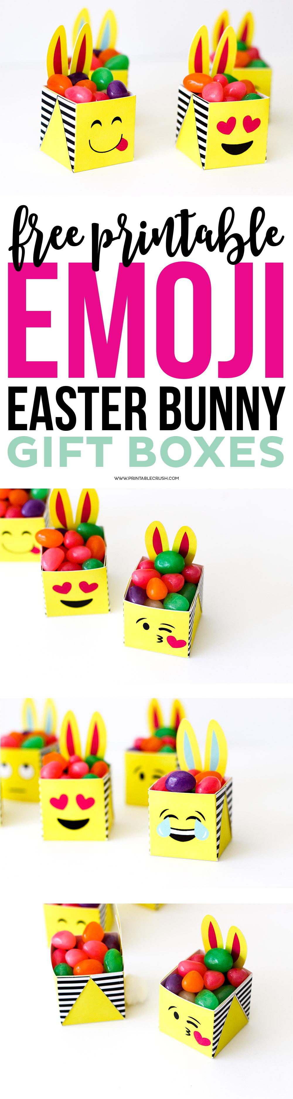Easter emoji bunny boxes free printable printable crush long pin collage for easter emoji boxes negle Choice Image