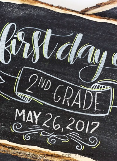 Create these Last Day of School Hand Lettered Chalkboard Signs to use every year! Includes FREE Personal Use SVG File for the first and last day of school, plus templates for each grade!