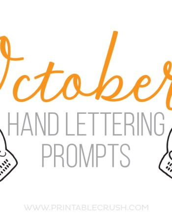 Get 31 October Hand Lettering Prompts plus a FREE practice sheet in this blog series to improve your hand lettering skills!