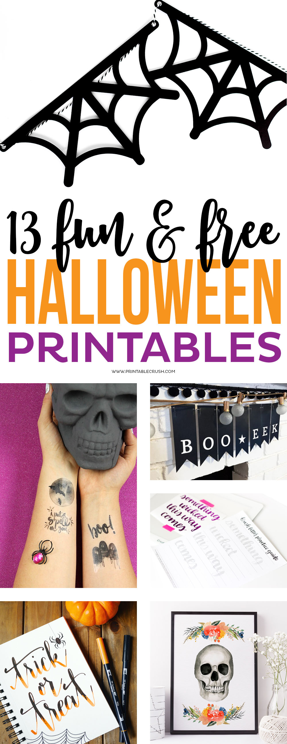 I am sharing my favorite FUN & FREE HALLOWEEN PRINTABLES to help you get prepped for Halloween. Get party ideas, home decor, lettering, and more!