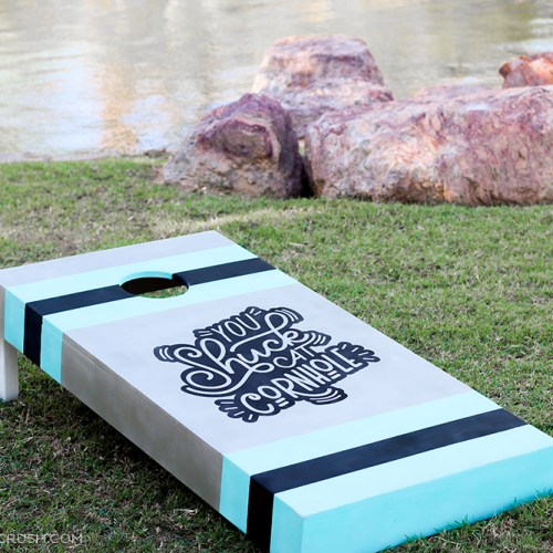 This Cornhole Game is always a favorite at family get-togethers and parties. Use this DIY Cornhole Game Tutorial to create your own custom design!