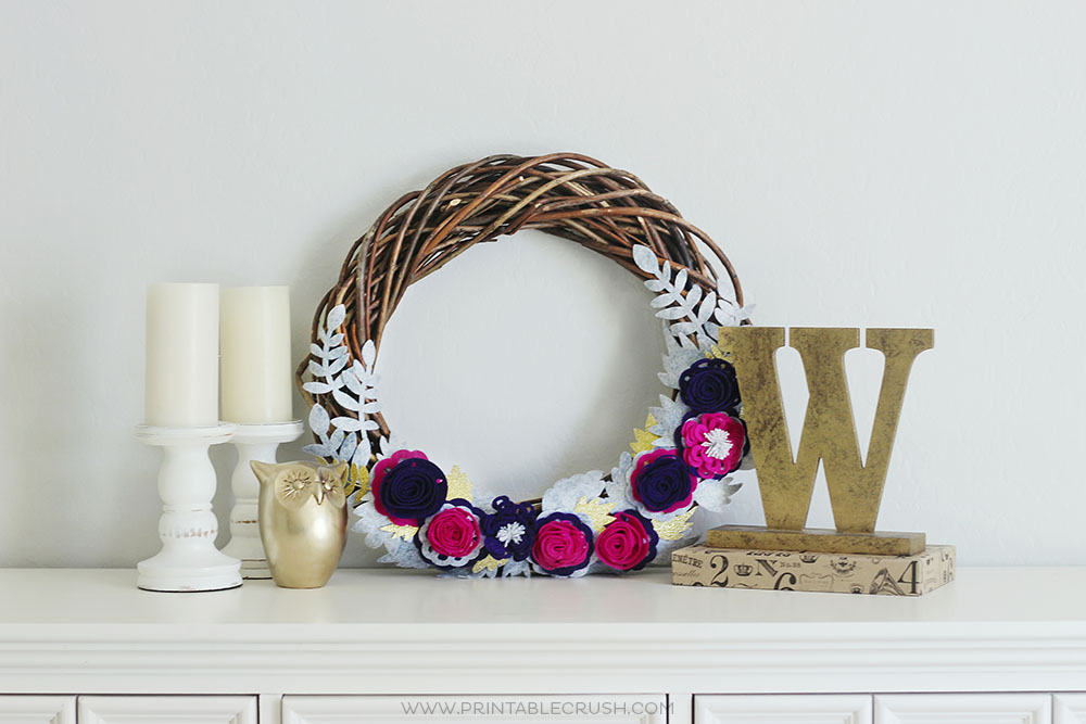 Add some color to your fall decor this year with this DIY Wreath!