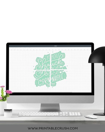 Since you're only limited to a 12X24 size for the Cricut, it's difficult to make large vinyl decals. This tutorial will show you how to use the Slice Tool in Cricut Design Space to make one large continuous design!