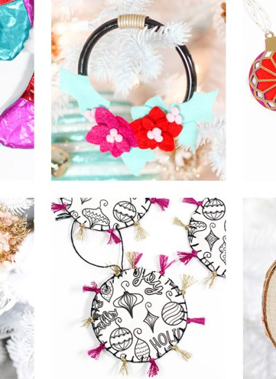 These Homemade Christmas Ornaments are perfect for anyone who is looking to get crafty and make their own ornaments this year!