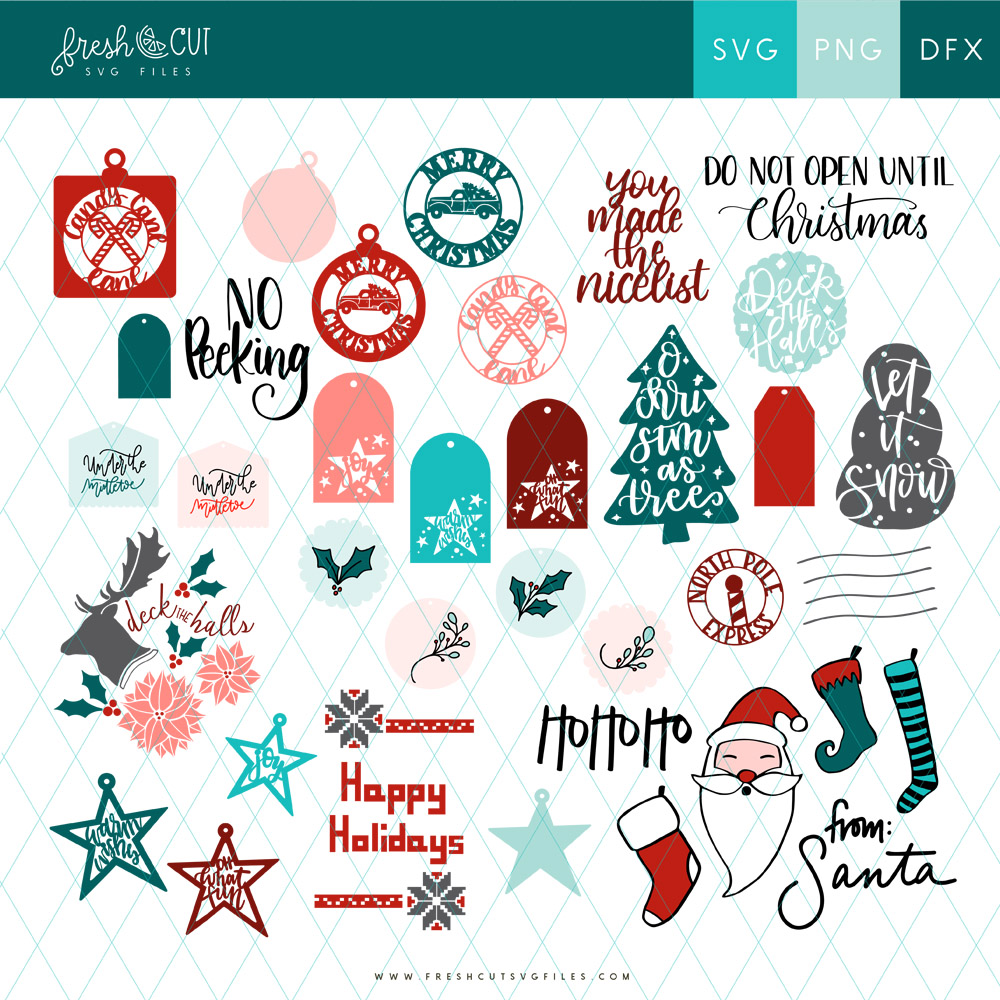Holiday Gift Tags and Cards SVG File Bundle from Fresh Cut SVG Files!
