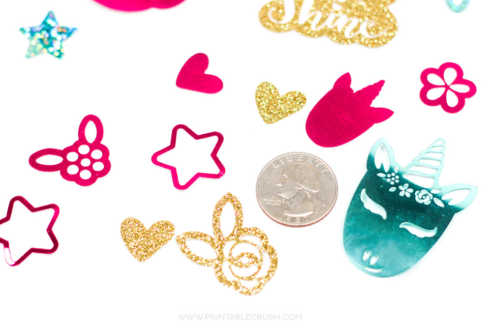 Unicorn Diy Confetti Cricut Tutorial Printable Crush