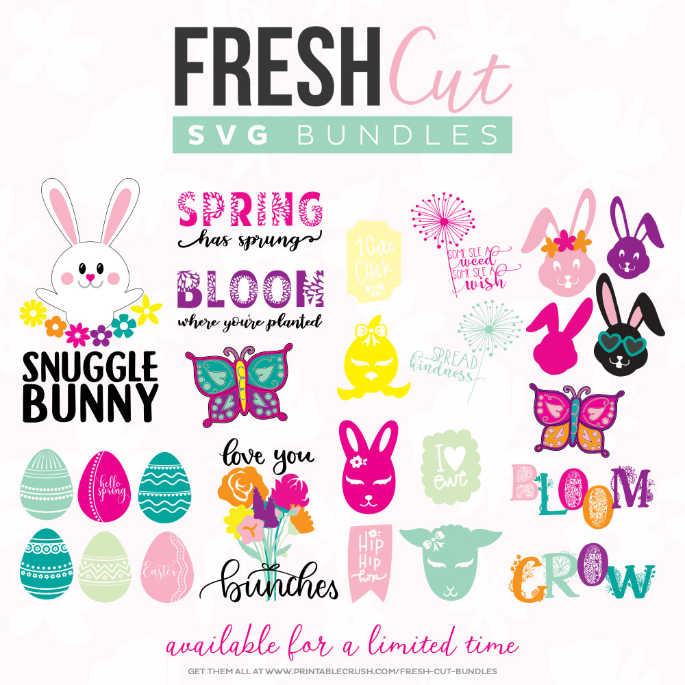 Spring Fresh Cut SVG Bundle collage