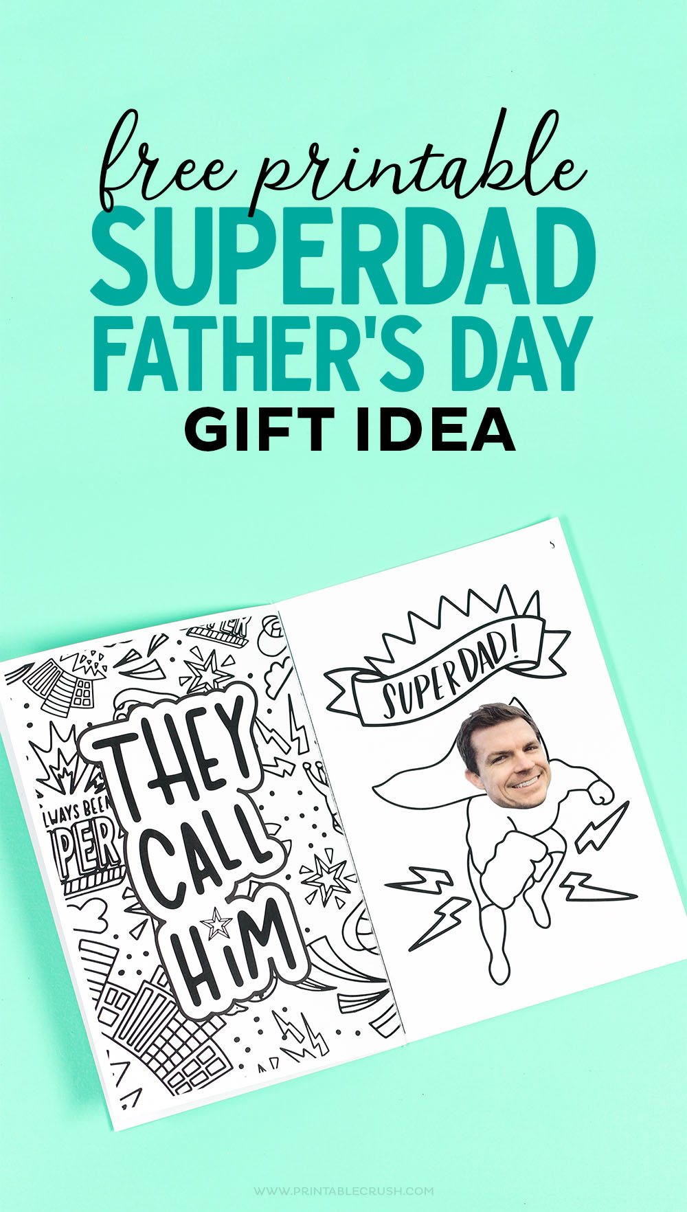 This Father's Day Gift idea is SO easy for kids to make. They'll love adding their pictures to the superhero coloring book.