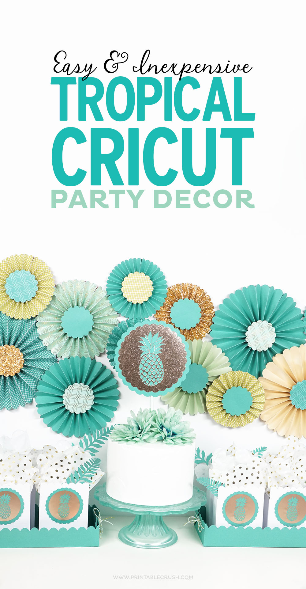 With the purchase of the new Martha StewartCricut® Explore Air™ 2 Special Edition, you'll get some gorgeous Tropical Cricut Party Decor graphics!