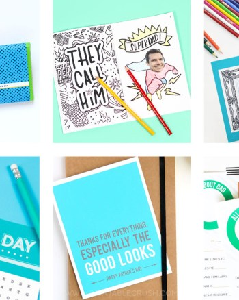 Treat dad with something fun with these 9 FREE Father's Day Printables! Includes father's day cards, questionnaires, candy bar wrappers, and more!
