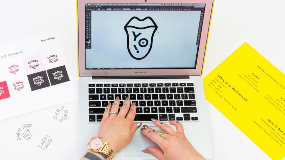 This Brit and Co Adobe Illustrator class is only $39 and you'll be able to teach yourself how to design logos, PLUS you can learn techniques that will be perfect for printable design.