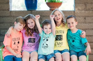 Make custom Cousin Camp Iron T-shirts for your next family reunion. So easy to do with your Cricut cutting machine!