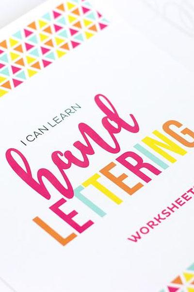 Teach Kids Hand Lettering