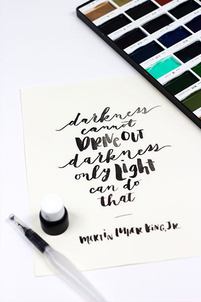 Modern Calligraphy and hand lettering worksheets
