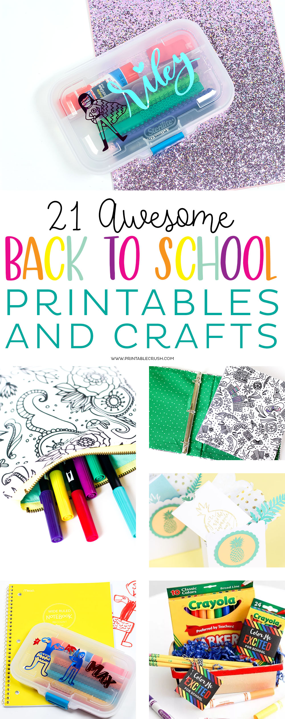 Your kids will love creating with these 19 AMAZING Back to School Printables and Crafts. You'll find teacher gifts, school supply activities, all about me printables and more!