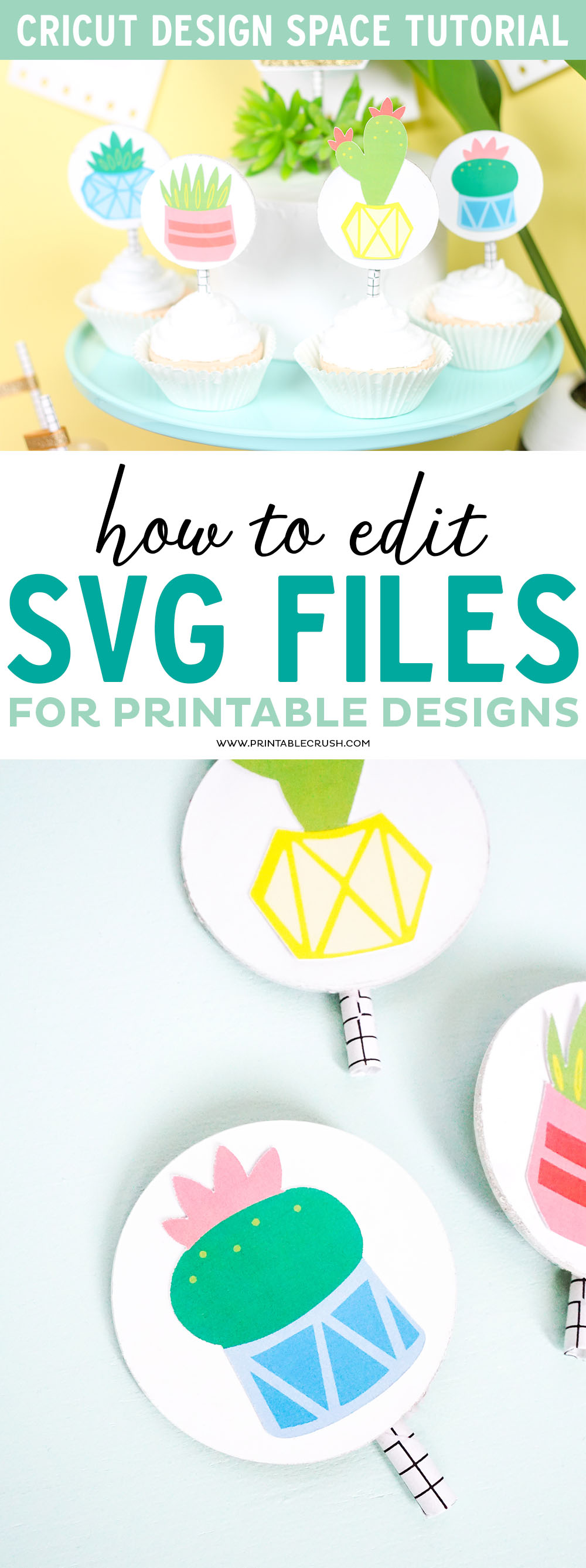 Create printable designs in Cricut Design Space by editing SVG files!
