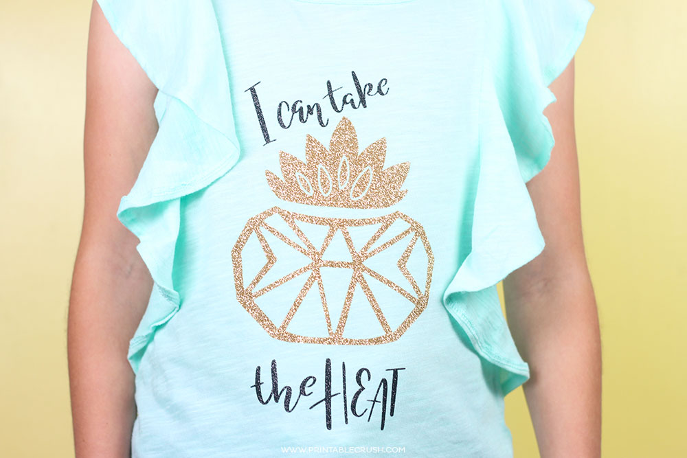 How To Make Iron On Designs For T Shirts | Easy Cricut Iron On Vinyl Succulent T Shirt Printable Crush