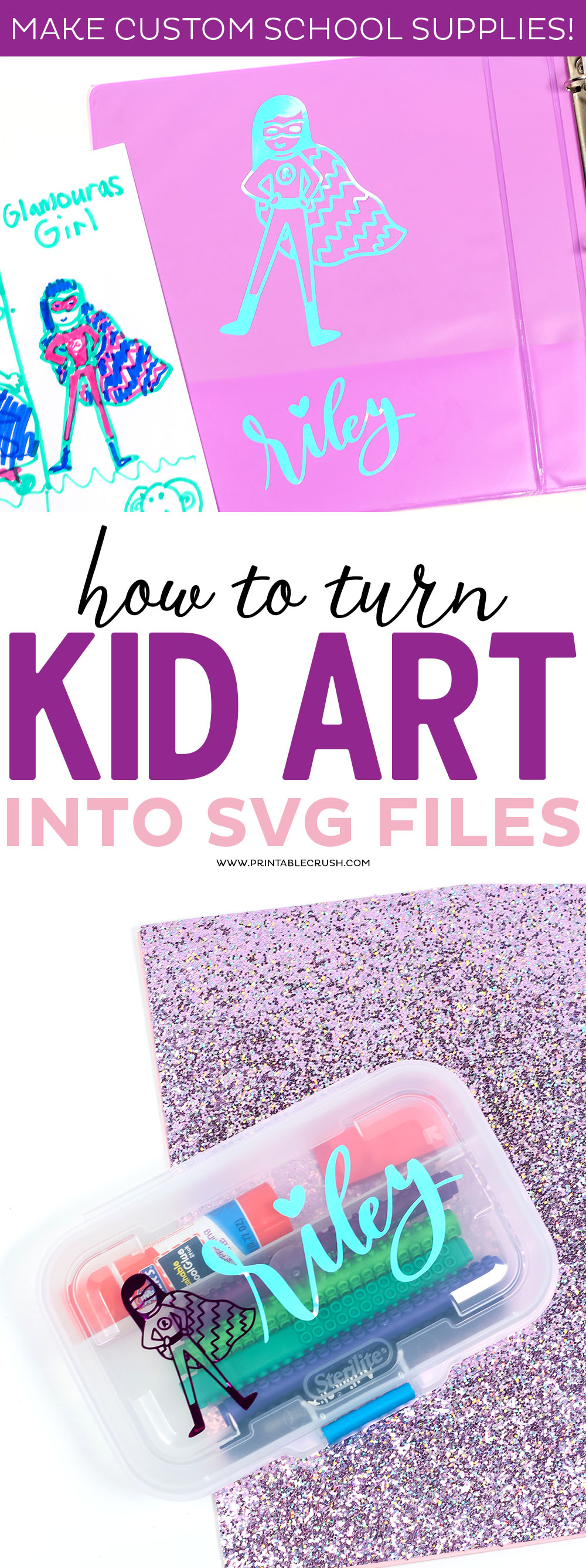 How to Turn Kid Art into SVG Files - Printable Crush