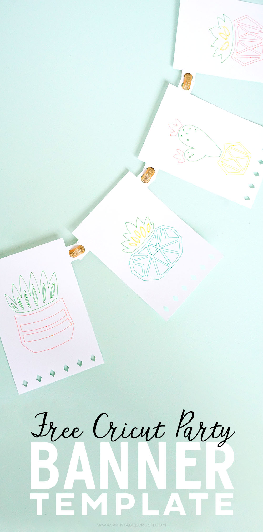 Free cricut party banner template printable crush make your own banner design with this free cricut party banner template maxwellsz