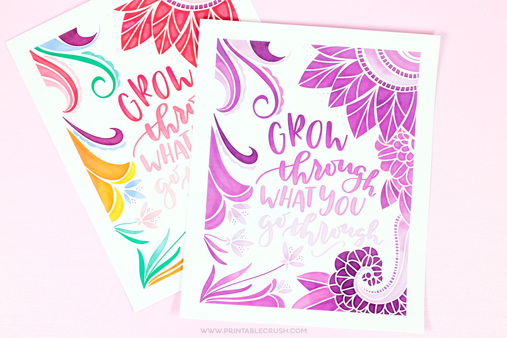 FREE Hand Lettered Word Art Printable