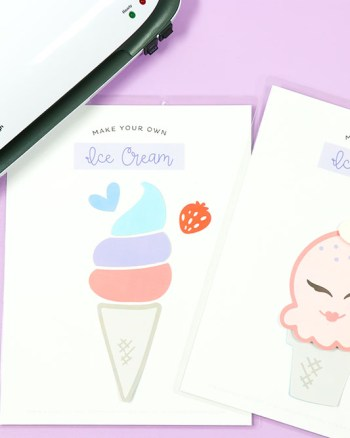 Laminate these Make Your Own Ice Cream Printables so your child can use this preschool learning activity over and over again!