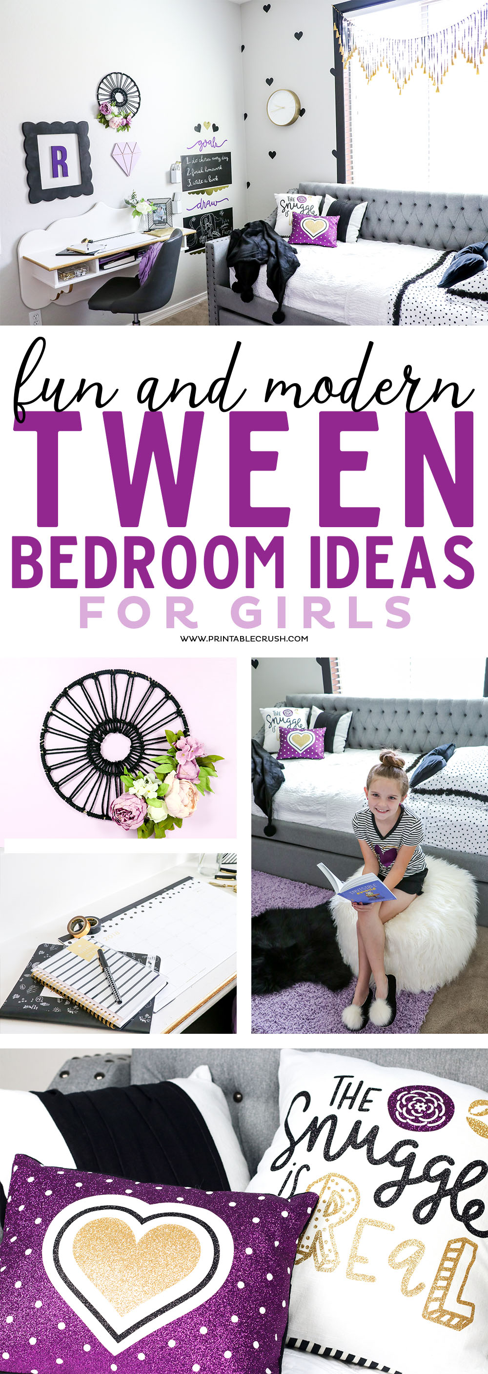 Redecorate your daughters bedroom with these fun and modern tween bedroom ideas! These styles will last through the teen years!