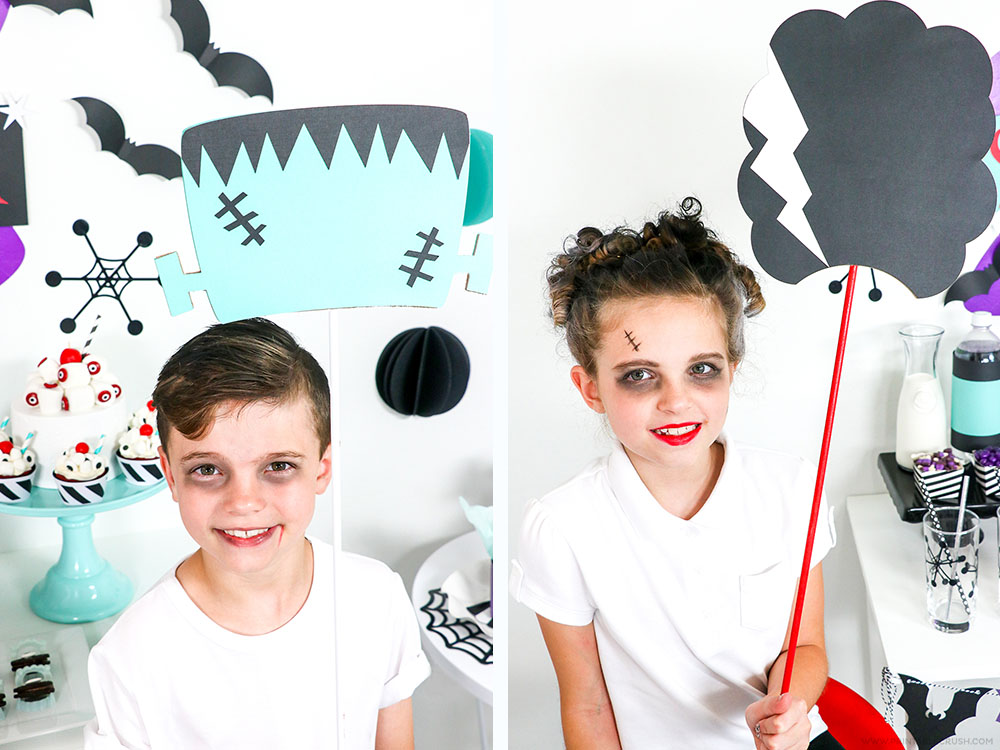 These Monster Photo Props include Frankenstein and his bride, a werewolf, vampire teeth, and more fun designs! Only available in Cricut Design Space.
