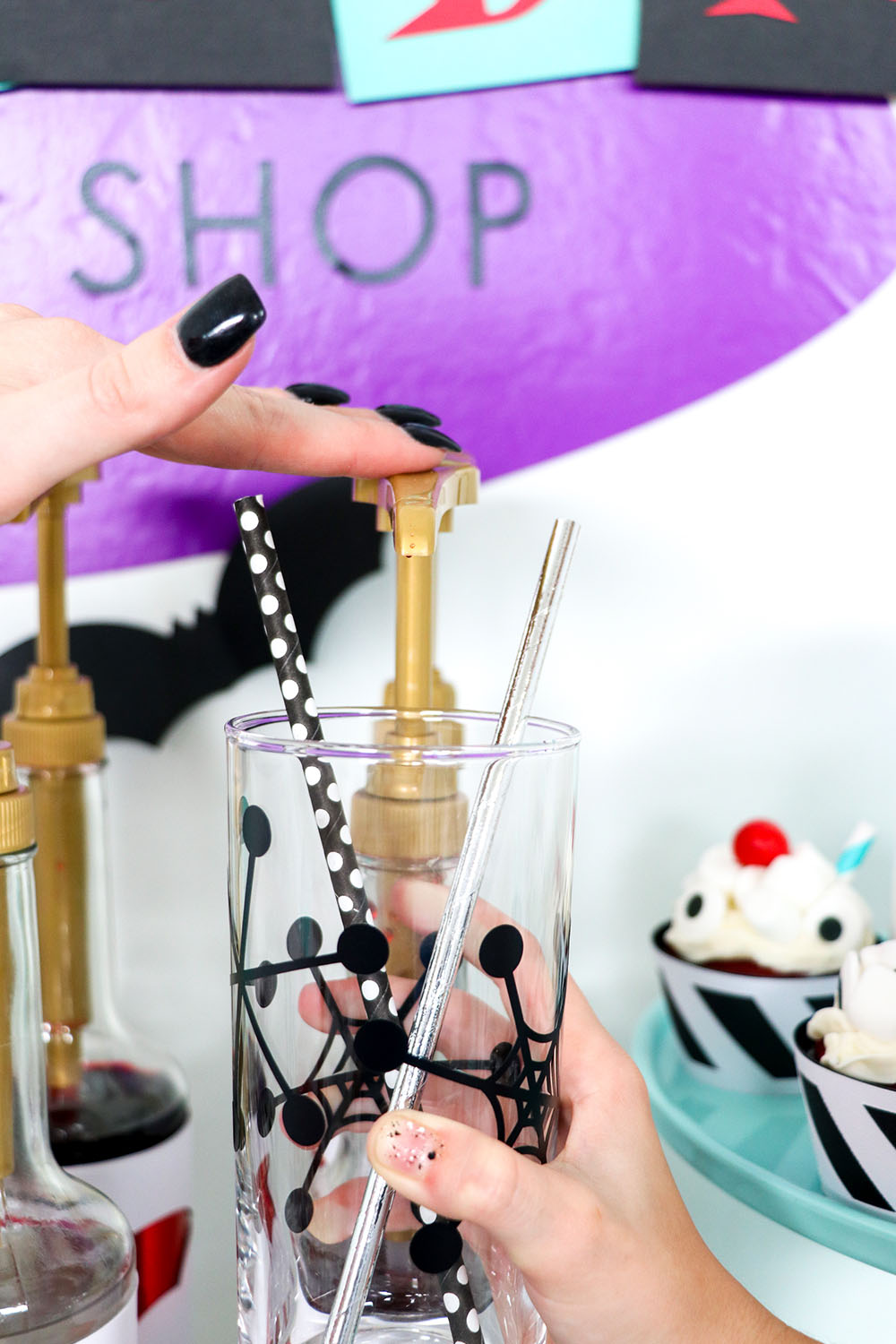 Italian Soda is so easy to make and is perfect for your next Halloween Party!