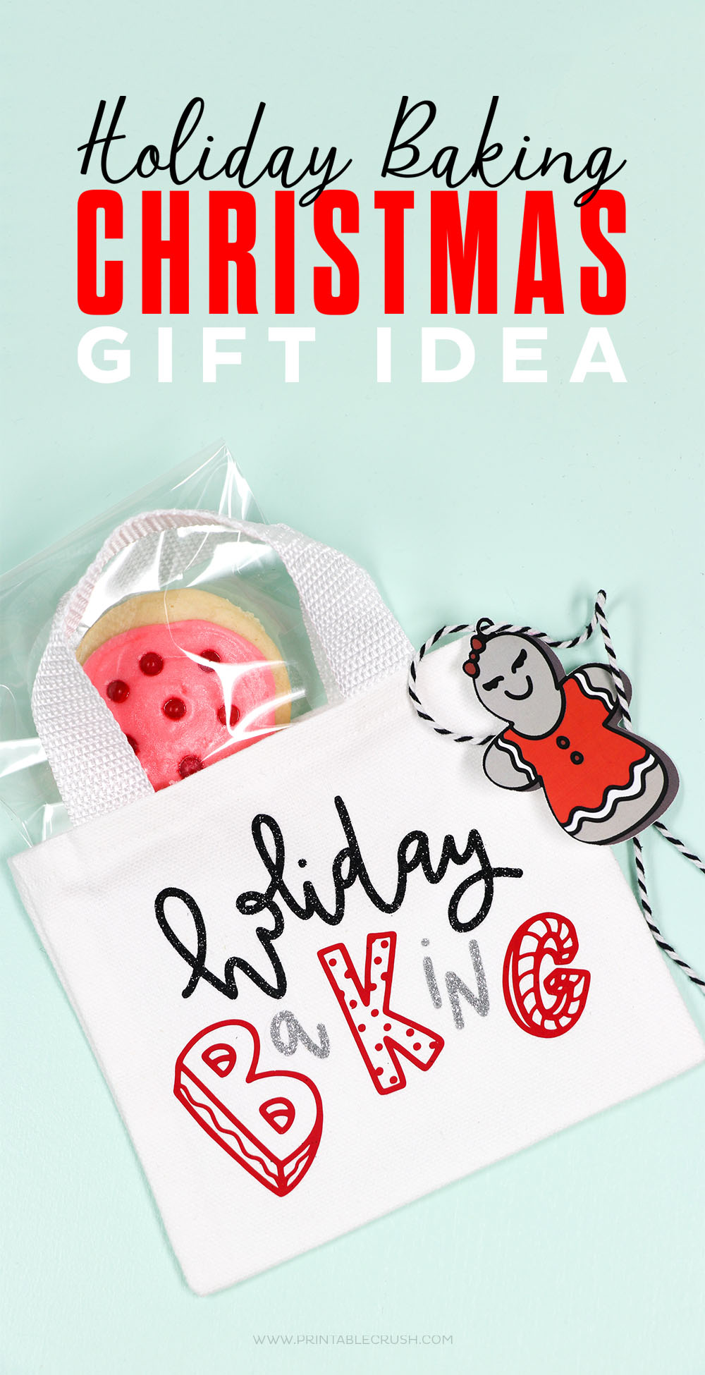 These Christmas Cookie Gift Bags are too cute and so easy to make with the Cricut EasyPress 2!