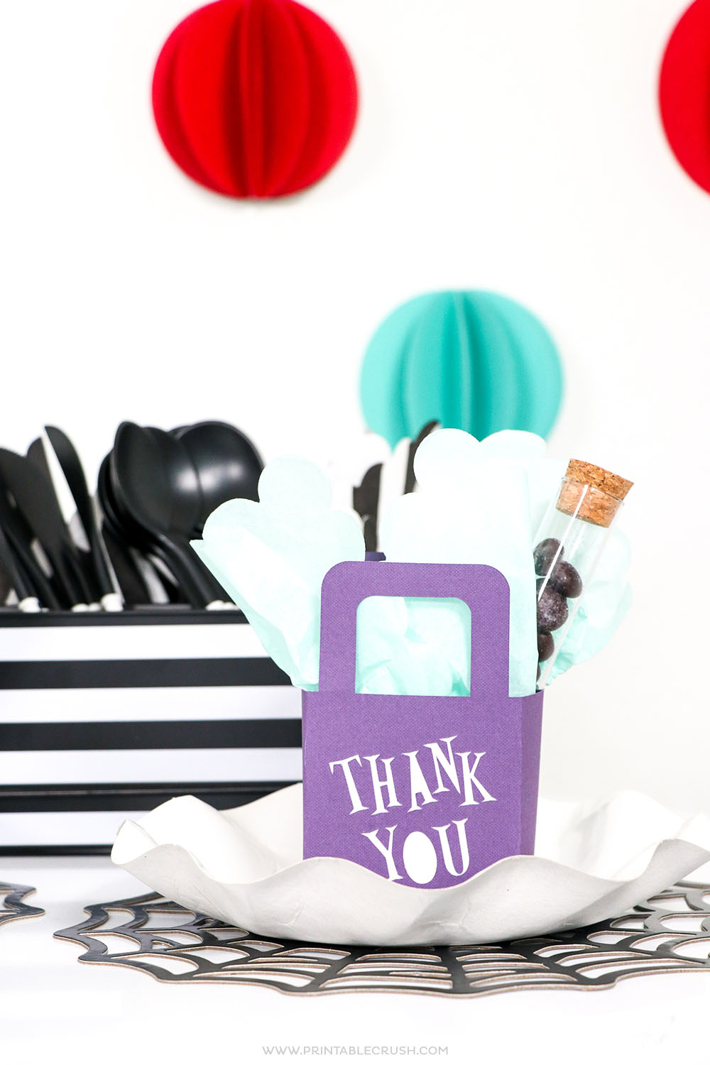Use the Cricut Maker to create these EASY Halloween Party Favor bags!
