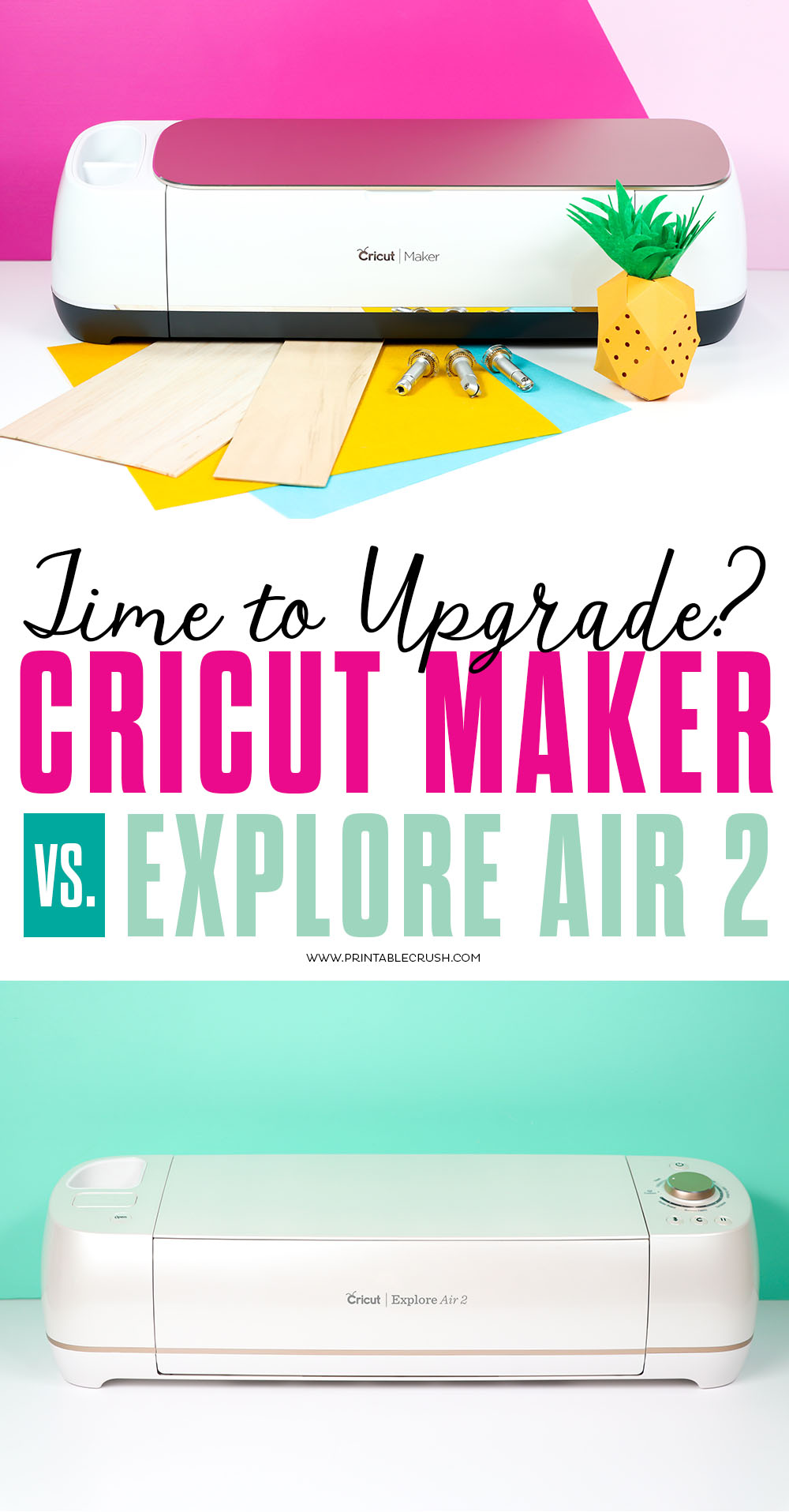 You may need to Upgrade from the Cricut Explore Air to the Cricut Maker