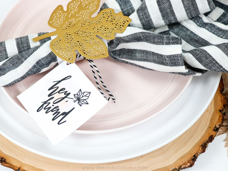 Free Friendsgiving and Fall Printables for your Modern Thanksgiving party!